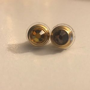 Alex and Ani Topaz Clarity Gold Gemstone Earrings
